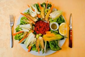Salad Served at Trattoria Il Guscio