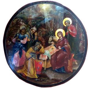 Икона_Рождество_Христово,_XVIII_в._ГТГ