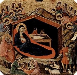 Duccio_di_Buoninsegna_The_Birth_of_Christ_oil_paintings_reproduction_b